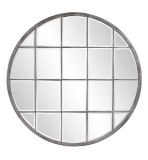Superior Round Antique Silver Mirror