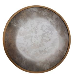 Albizzi Round Antiqued Mirror