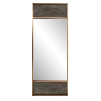 Albizzi Antiqued Paneled Mirror