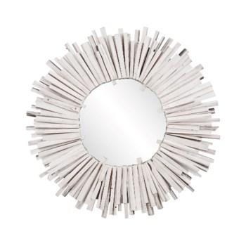 Durango Round White Mirror