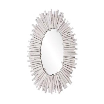Durango White Oval Mirror