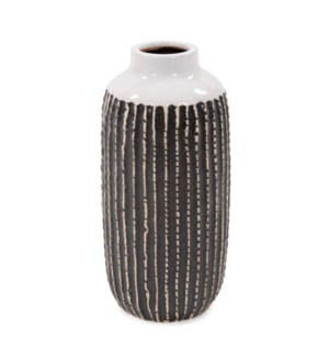 Terra Striped Stoneware Vase, Large