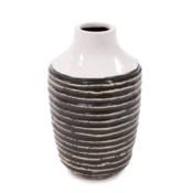 Terra Striped Stoneware Vase, Medium