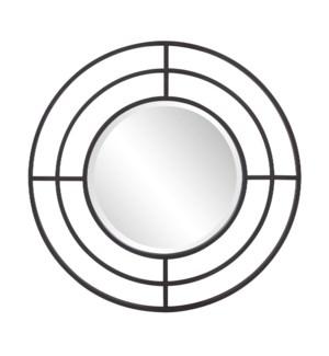 Bullseye Round Iron Mirror
