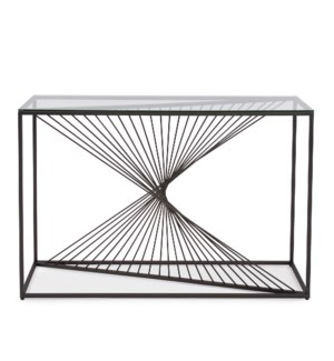 Optical Twist Console Table