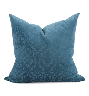 "20"" x 20"" Pillow Chelsey Indigo - Down Fill"