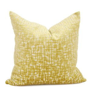 "20"" x 20"" Pillow Crevasse Citron - Down Fill"