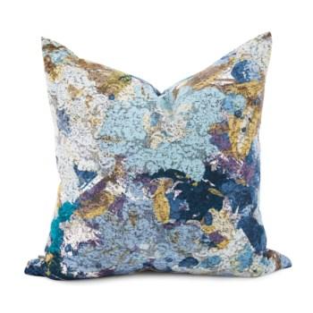 "20"" x 20"" Stanton Turquoise Pillow - Poly Insert"