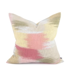 "20"" x 20"" Gleam Coral Pillow - Poly Insert"