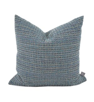 "20"" x 20"" Alton Indigo Pillow - Poly Insert"