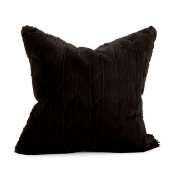 """20"""" x 20"""" Angora Ebony Pillow - Poly Insert"""