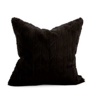 "20"" x 20"" Angora Ebony Pillow - Down Fill"