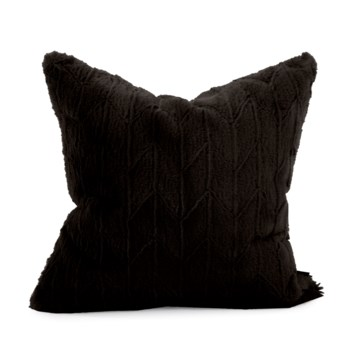 "20"" x 20"" Angora Ebony Pillow - Down Fill"