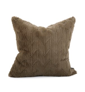"20"" x 20"" Angora Moss Pillow - Poly Insert"