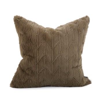 """20"""" x 20"""" Angora Moss Pillow - Poly Insert"""