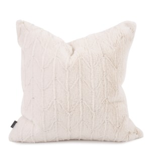 "20"" x 20"" Angora Natural Pillow - Poly Insert"