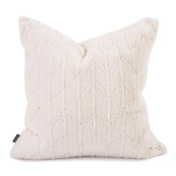 """20"""" x 20"""" Angora Natural Pillow - Poly Insert"""