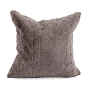 "20"" x 20"" Angora Stone Pillow - Poly Insert"