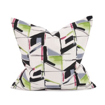 "20"" x 20"" Abstract Fuchsia Pillow - Poly Insert"