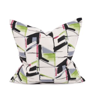 "20"" x 20"" Abstract Fuchsia Pillow - Down Fill"