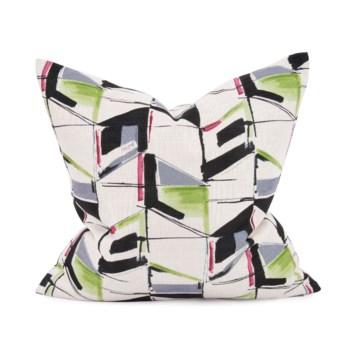 "20"" x 20"" Abstract Fuchsia Pillow - Down Fill"