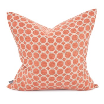 """20"""" x 20"""" Pyth Coral Pillow - Poly Insert"""