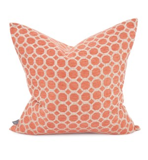 "20"" x 20"" Pyth Coral Pillow - Down Fill"