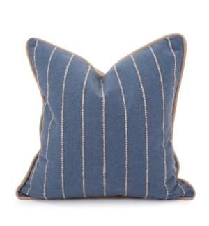 "20"" x 20"" Pillow Evie Indigo - Down Insert"