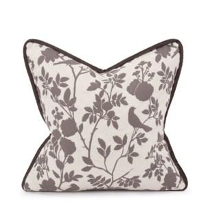 "20"" x 20"" Pillow Sparrow Natural - Down Insert"
