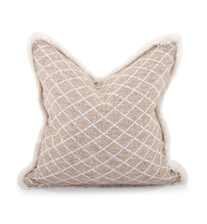 """20"""" x 20"""" Pillow Grille Natural - Down Insert"""