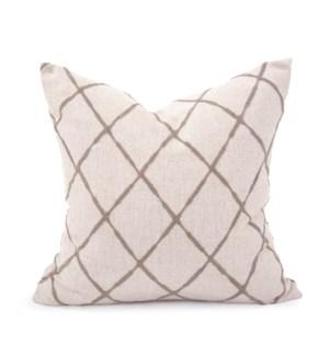 "20"" x 20"" Pillow Lyric Pewter - Down Insert"