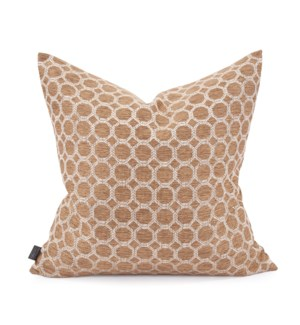 "20"" x 20"" Pillow Pyth Gold - Poly Insert"
