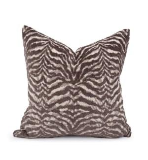"20"" x 20"" Pillow Bengal Charcoal - Down Insert"