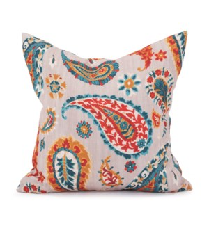 """20"""" x 20"""" Pillow Boteh Turquoise - Down Insert"""