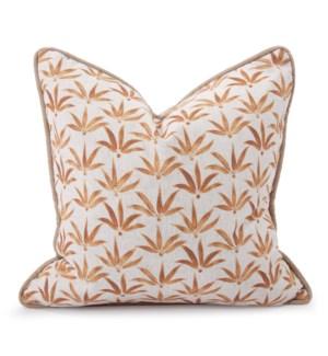 20 in. x 20 in. Pillow Hemp Gold - Down Insert