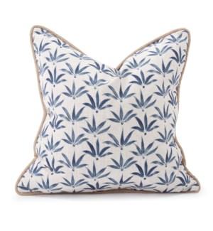 20 in. x 20 in. Pillow Hemp Indigo - Down Insert
