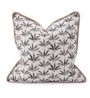 20 in. x 20 in. Pillow Hemp Charcoal - Down Insert