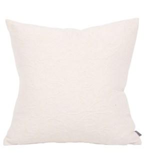 """20"""" x 20"""" Jacquard Domain Natural Pillow"""