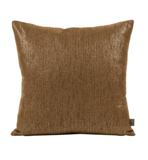 """20"""" x 20"""" Pillow Glam Chocolate - Poly Insert"""