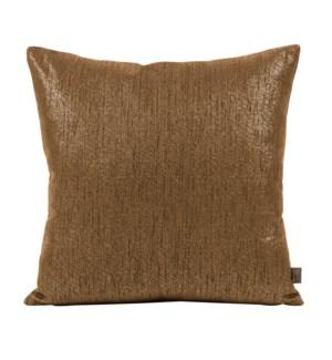 "20"" x 20"" Pillow Glam Chocolate - Down Insert"