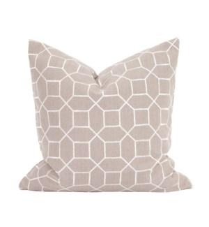 "20"" x 20"" Pillow Trellis Slate - Down Insert"