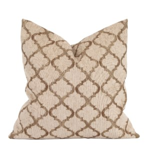 "20"" x 20"" Pillow Moroccan Gold - Down Insert"