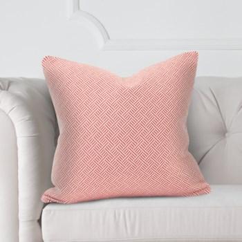 "20"" x 20"" Pillow Beach Club Rhubarb - Poly Insert"