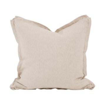 "20"" x 20"" Pillow Linen Slub Natural - Down Insert"