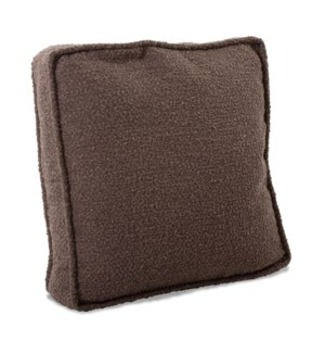 20 in. Gusseted Pillow Barbet Chocolate - Down Insert