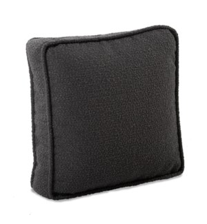 20 in. Gusseted Pillow Barbet Charcoal - Down Insert