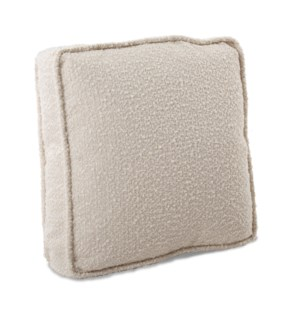 20 in. Gusseted Pillow Barbet Natural - Down Insert