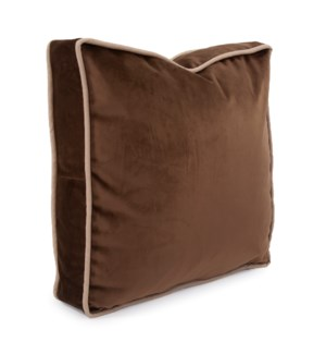 "20"" Gusseted Pillow Bella Chocolate - Down Insert"