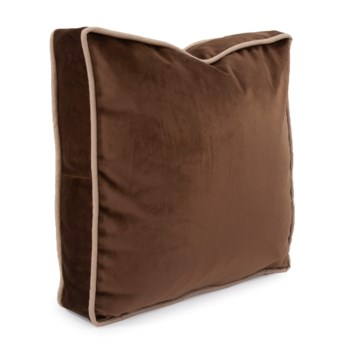 """20"""" Gusseted Pillow Bella Chocolate - Down Insert"""