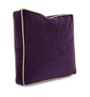 "20"" Gusseted Pillow Bella Eggplant - Down Insert"